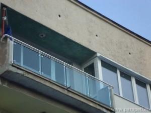Стъклен парапет с ръкохватка ф50
