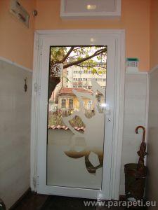Алуминиева врата с огледало и рисунка