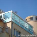 Остъкляване на тераси с покрив от стъкло.